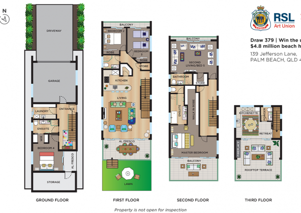 RSL Art Union Draw 379 Palm Beach Floor Plans