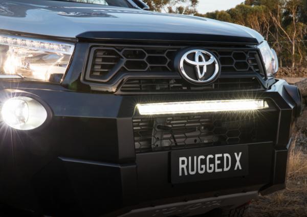 Toyota Hilux Rugged X LED Light Bar and Bash Plate