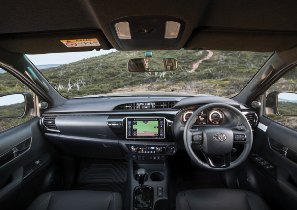 Toyota Hilux Rugged X Leather Accented Interior