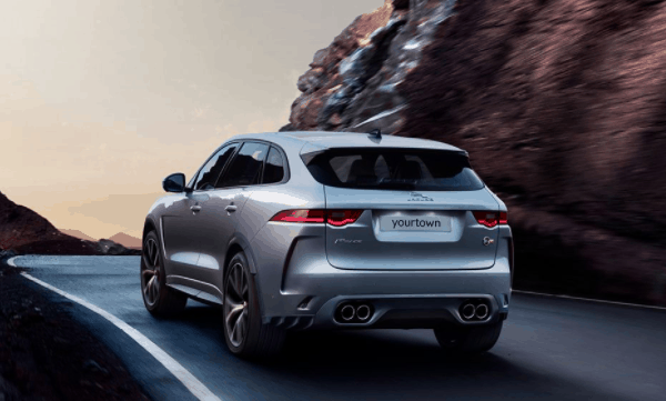 yourtown draw 1122 Jaguar F Pace Back View