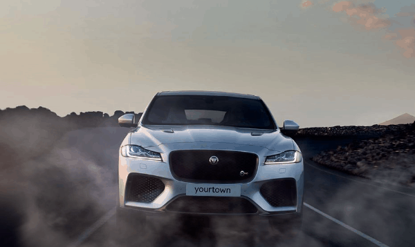yourtown draw 1122 Jaguar F Pace Front View